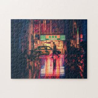 Het raadsel van Cyberpunk, koele de straatscène Legpuzzel