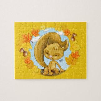 Het Raadsel van de Cartoon van de Eekhoorn van de Legpuzzel