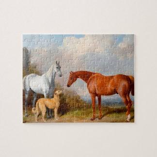Het Raadsel van de Foto van de Kunst van paarden Foto Puzzels