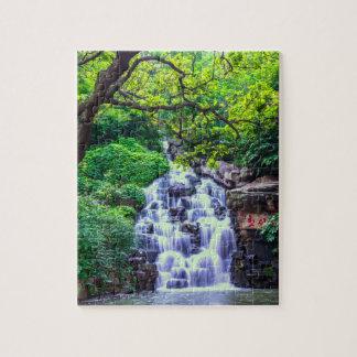 Het Raadsel van de Foto van de waterval 8x10 met Puzzel