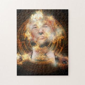 Het Raadsel van de Foto van Donald Trump 11x14 met Puzzel