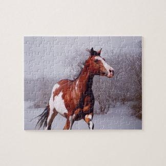 Het Raadsel van de Sneeuw van het Paard van de Legpuzzel