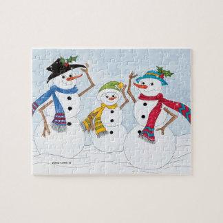 Het Raadsel van de sneeuwman Foto Puzzels