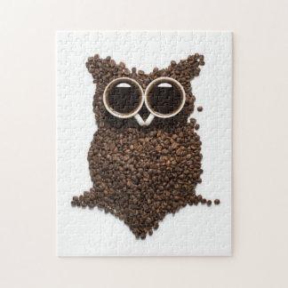 Het Raadsel van de Uil van de koffie Foto Puzzels
