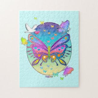 Het Raadsel van de Vlinder van de regenboog Puzzel