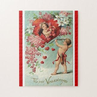 Het raadsel van vintage Valentijn Puzzel