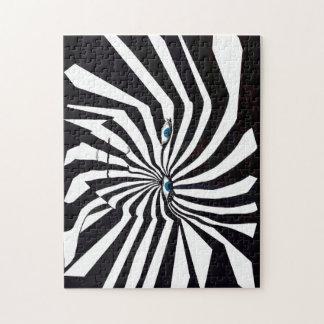 Het raadsel van Zebraman Puzzel