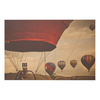 Het Ras van de Ballon van de Hete Lucht van Reno Hout Afdruk