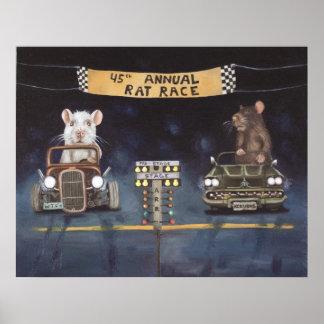Het Ras van de rat Poster