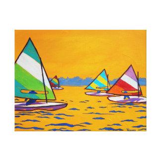 Het Ras van de Zeilboot van Sunfish Canvas Afdrukken