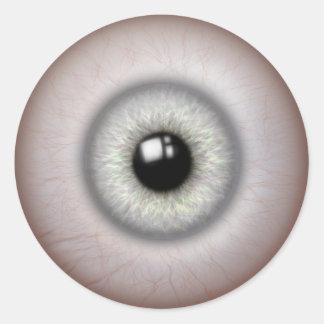 het realistische kijken oogappelstickers ronde sticker