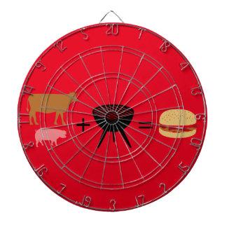 Het Recept van de Hamburger van het bacon Dartbord