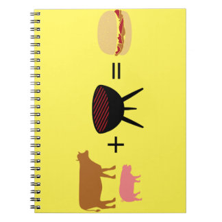 Het Recept van de Hamburger van het bacon Ringband Notitieboek