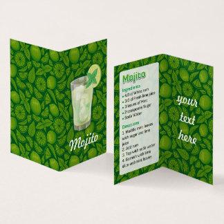 Het Recept van Mojito Visitekaartje