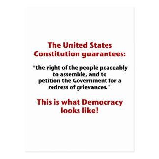 Het recht te assembleren - Welke Democratie als Briefkaart