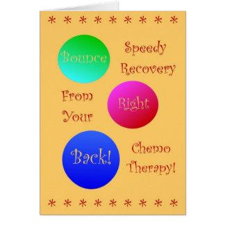 Het Recht van de sprong terug van Uw Therapie Chem Wenskaart