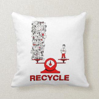 Het recyclene Hoofdkussen van het Afval Sierkussen
