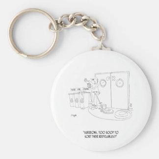 Het recycling van Cartoon 9265 Sleutelhanger