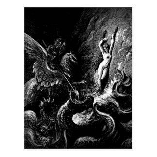 Het redden van het briefkaart van de Engelwortel