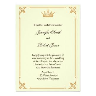 Het Regentaat van de kroon in het Huwelijk van het 16,5x22,2 Uitnodiging Kaart