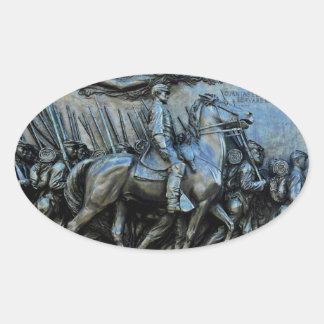 Het regiment van de Infanterie van 54ste Ovale Sticker