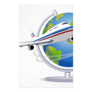 Het reizen rond het Wereldbol Briefpapier
