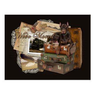 Het reizen Rotsachtige Doberman - Briefkaart