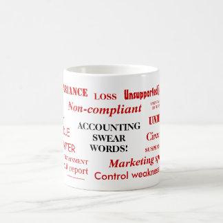 Het rekenschap geven zweert Woorden!! De wrede Koffiemok