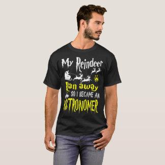 Het rendier liep ik werd de T-shirt van de