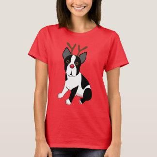 Het Rendier van Boston Terrier T Shirt