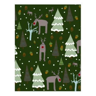 Het Rendier van de winter Briefkaart