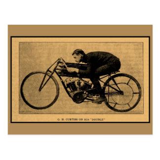 Het rennen van de motorfiets geschiedenis GH Briefkaart