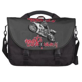 Het rennen van de motorfiets laptop computer tas