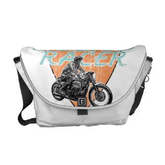 Het rennen van de motorfiets messenger bag