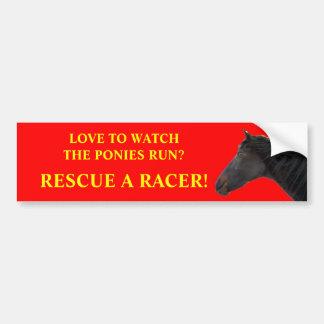 Het Rennen van de redding Paarden Bumpersticker