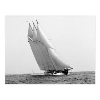 Het rennen van Jacht Atlantische Oceaan, 1904 Briefkaart