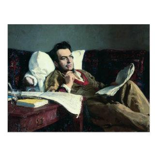 Het repin-Portret van Ilya van de Componist Briefkaart