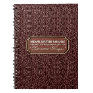 Het reptiel Kastanjebruine Zwarte Moderne Ringband Notitieboek