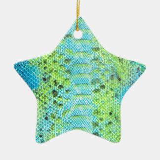 Het reptiel patroon van de huidSlang Keramisch Ster Ornament