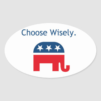 Het republikeinse Overdrukplaatje van de Auto Ovale Sticker