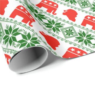 Het Republikeinse Patroon van de Kerstman van Cadeaupapier