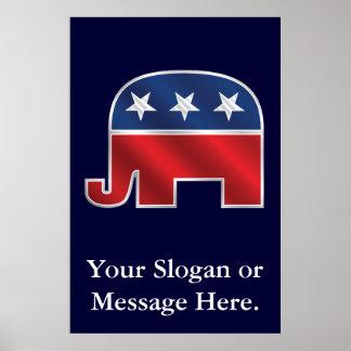 Het republikeinse Poster van de Douane van de Olif