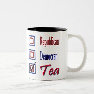 Het republikeinse Theekransje van de Democraat Tweekleurige Koffiemok