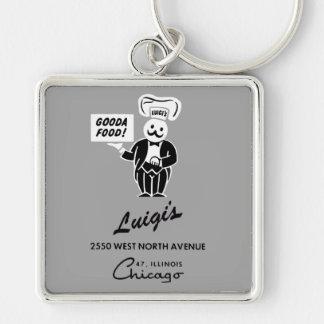 Het Restaurant van Luigi, Chicago, IL Sleutelhanger