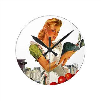 Het Retro Inblikken van het Huis van de Keuken in Ronde Klok