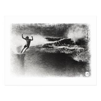 het retro surfen briefkaart
