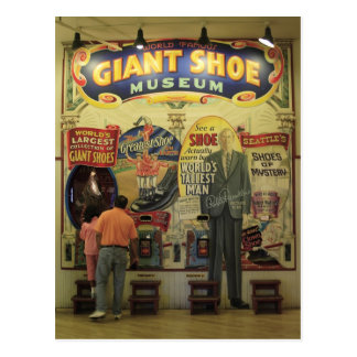 Het reuze Museum van de Schoen Briefkaart