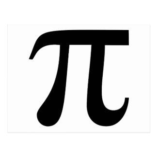 """Het reuze Symbool van """"Pi"""" Briefkaart"""