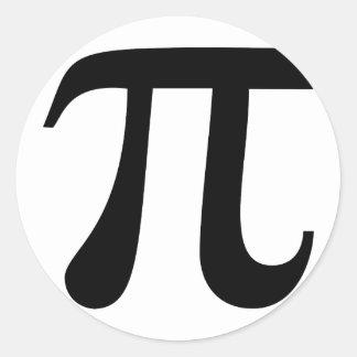 """Het reuze Symbool van """"Pi"""" Ronde Sticker"""