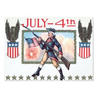 Het revolutionaire Schild van de Vlag van de 12,7x17,8 Uitnodiging Kaart